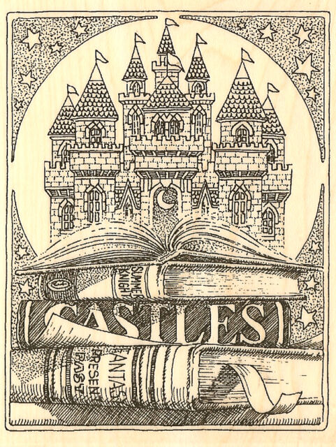 House With Porch Wood Mounted Rubber Stamp IMPRESSION OBSESSION H1747 New