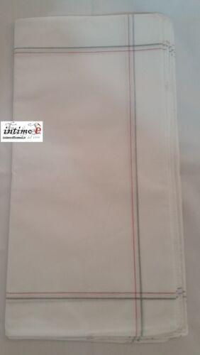 SET 12 FAZZOLETTI DA UOMO COLORATI RIGATI BIANCHI FANTASIA 100/% COTONE 40 x 40CM