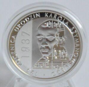 Polen-10-Zlotych-2007-Karol-Szymanowski-Silber