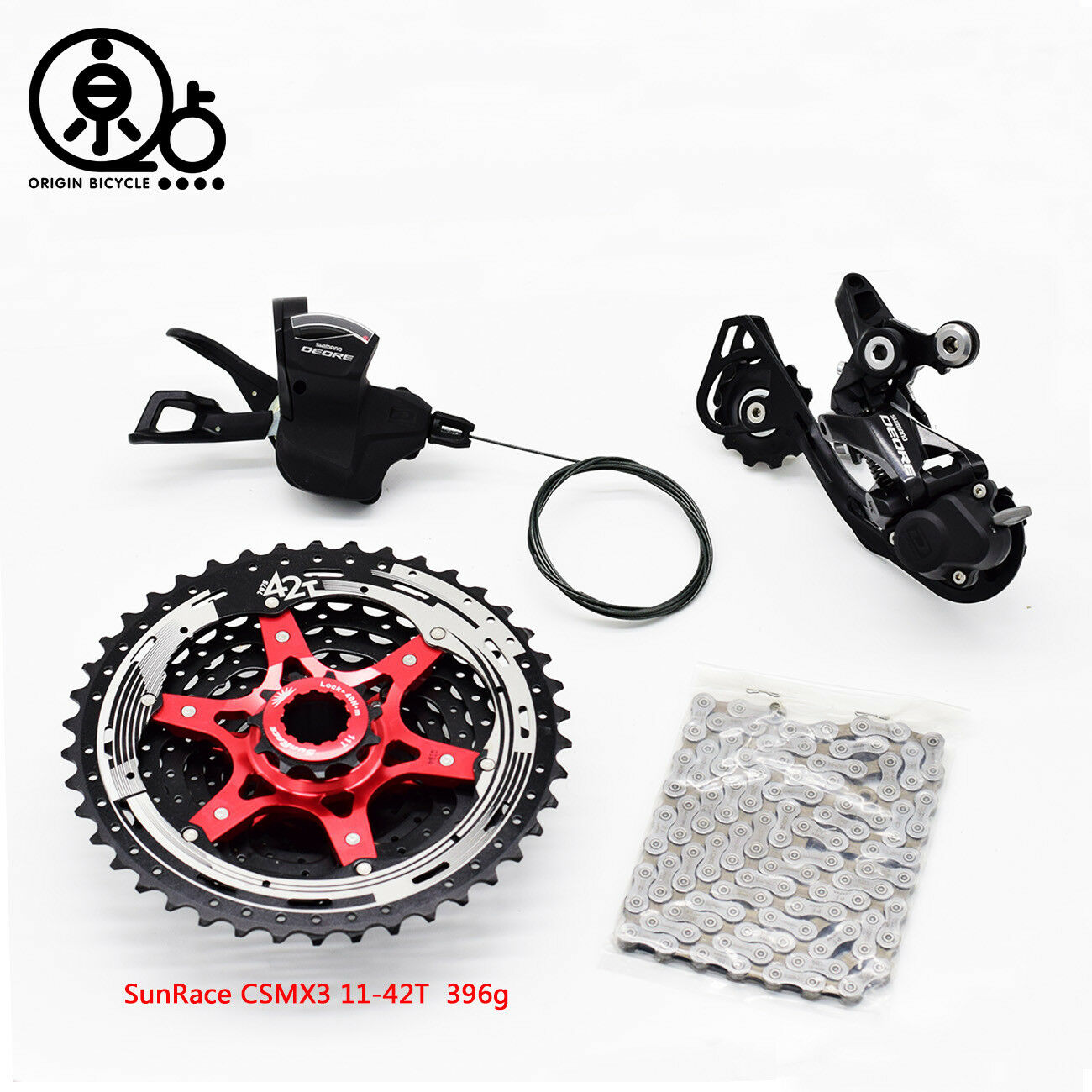 Shimano  Deore M6000 10Speed Shifter+Derailleur+HG54Chain+HG500 11-42 46T Cassett  best quality best price