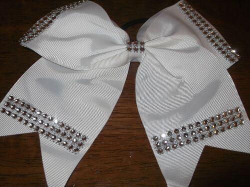 8 inch Fashion Boutique Lovely Big Grosgrain Ribbon Cheerleading Bow Elastic