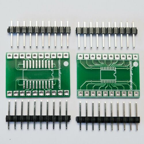 SOIC20 TSSOP20 to DIL Adapter Converter 2-Pack Surface Mount Breadboard SMD