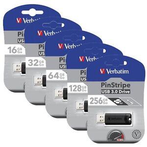 Verbatim-Store-039-n-039-Go-PinStripe-USB-3-0-Speicherstick-16GB-32GB-64GB-128GB-256GB