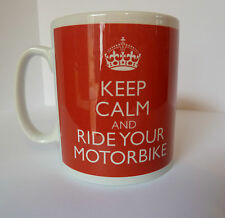 New Keep Calm and Ride Your Motorbike Gift Present Bike Mug Cup Carry On Dad Son