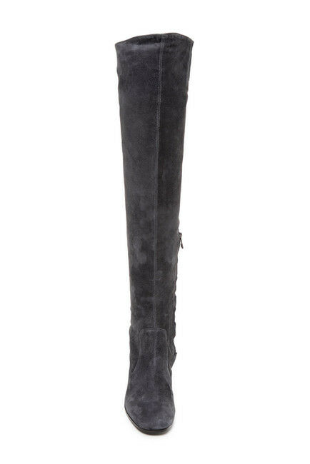 VINCE Blythe Grey Suede Leather Over the the the Knee Boots NEW Sz 8.5  695 abd2b9