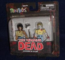 The Walking Dead MiniMates Series 5 SURVIVOR MORGAN & GEEK ZOMBIE Figure 2 PK