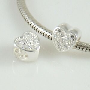 HEART-with-CZ-Love-Valentine-Solid-925-sterling-silver-Europea-bead-charm