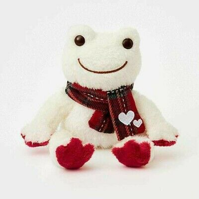 Pickles the Frog Bean Doll Plush LOVE Plaid Polyester ...