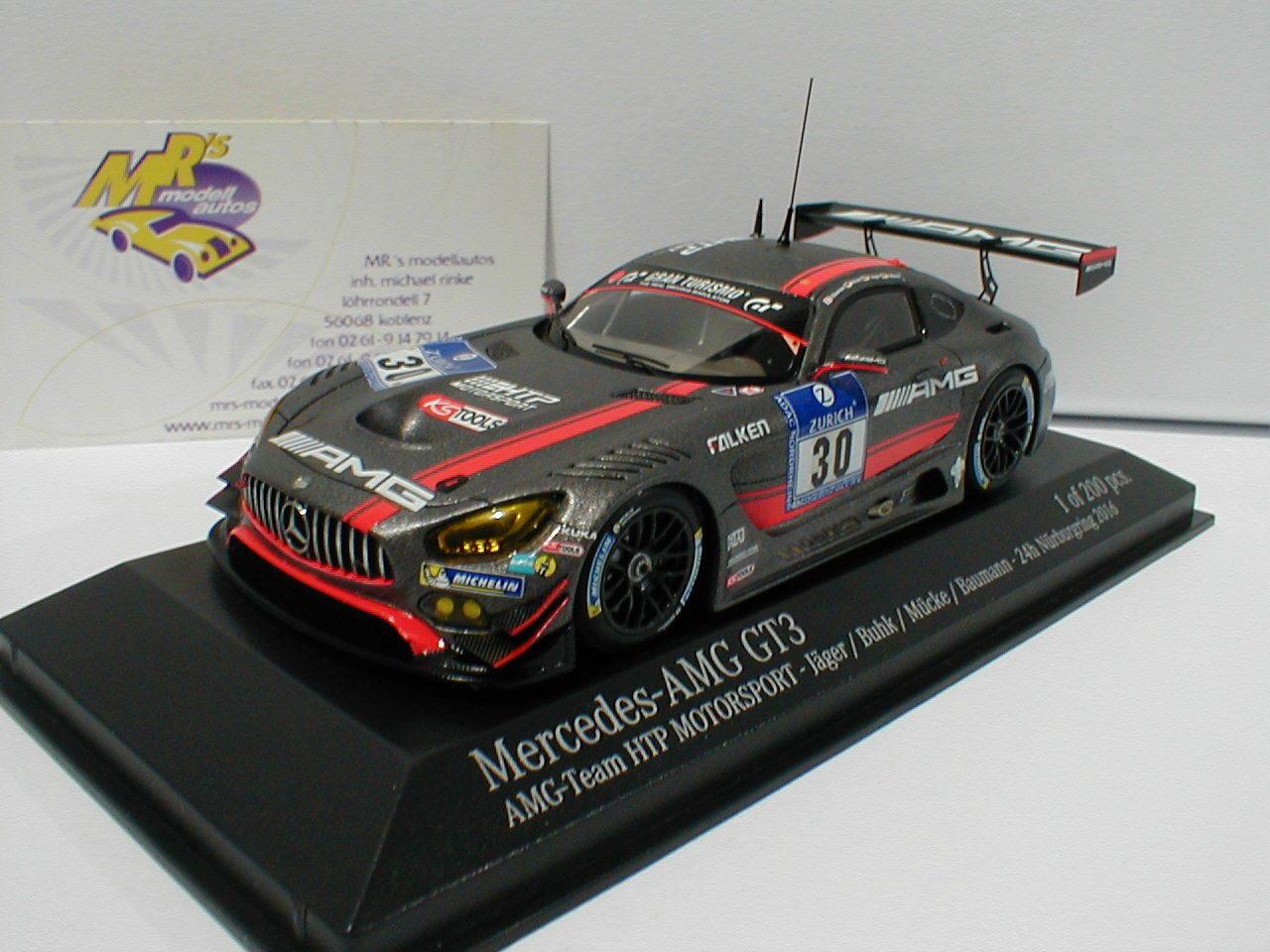 Minichamps 437163300 - Mercedes-Benz AMG GT3 No.30 24h Nürburgring 16 Jäger 1 43