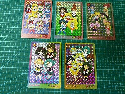 FAN CARD SAILOR MOON PART 2 PULL PACK CUTIE 5 PRISM CARDS FULL SET