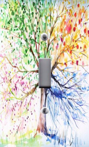 Light Switch Plate Outlet Covers ~ FUN /& COLORFUL FOUR SEASONS TREE
