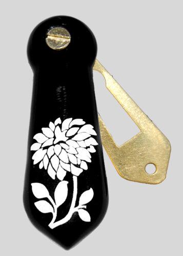 Clé de céramique porcelaine trou ECUSSON porte couvre floral flower design