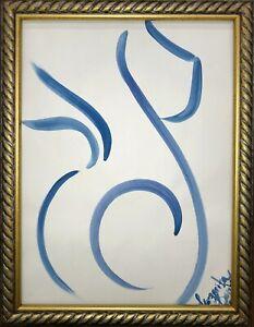 Margarita-Bonke-Malerei-PAINTING-erotic-EROTIK-FRAU-WOMEN-akt-nu-art-blau-blue