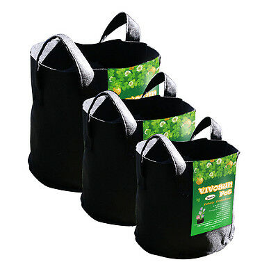 VIVOSUN Fabric Pots Plant Grow Bags Root Aeration Containers 3,5,10,15,30 Gallon