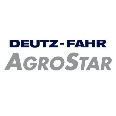 Deutz Traktor Agrostar Motorhaube  Aufkleber .
