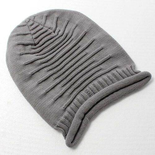 Women Cap Winter Chunky Soft Stretch Cable Knit Slouch Beanie Ski Hat HS