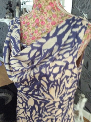 Hols Blue Dress Size Mauve Vert Jacques 14 Ivory Pristine wP8aaZ