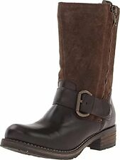 NEW CLARKS MAJORCA ISLE BROWN LEATHER BOOTS - UK size 3.5D
