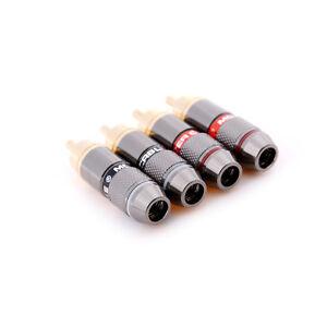 4-Pcs-RCA-Hi-Fi-Gold-Plated-Copper-Male-Plug-Audio-Connector-R