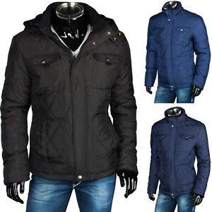 wholesale dealer 02f56 64122 Details zu WARME WINTER HERREN STEPPJACKE MANTEL PARKA KAPUZE FELL JACKE