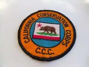 Vintage US YOUNG ADULT CONSERVATION CORPS Embroidered Patch ⫸ S21