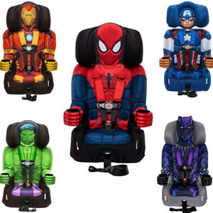 Safety Booster Car Seat With Back For Boy Kid Spider Man Captain America Hulk