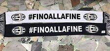 1 SCIARPA JUVENTUS UFFICIALE RASO D POLIESTERE STAMPA FRONTE RETRO #finoallafine