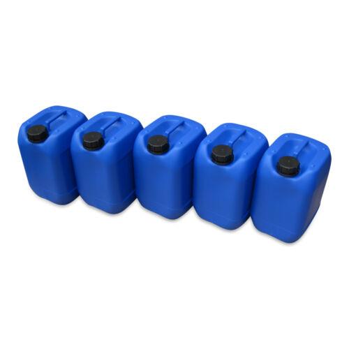 5 x 10 L Kanister blau Camping Plastekanister Wasserkanister Trinkwasser DIN51.