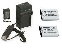 Two 2x Db-l70 Batteries + Charger For Sanyo Vpc-e10 Dmx-e10 Digital Camera