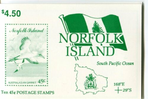 1994 Norfolk Island Seabirds MUH $4.50 Stamp Booklet With Gutter A