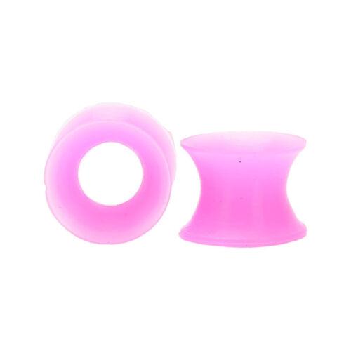 2cs 8mm Flexible Flesh Tunnel Ear Plug Gauge Stretcher Silicone Ear Piercing SP