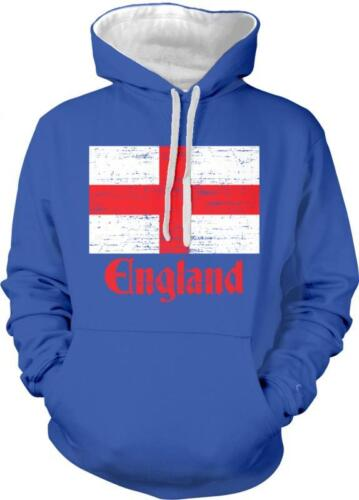 England Flag Design English Pride 2-tone Hoodie Pullover