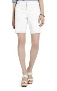 TOMMY-HILFIGER-Hollywood-Mid-Rise-Bermuda-Shorts-9-034-Inseam-Womens-Sz-12-White