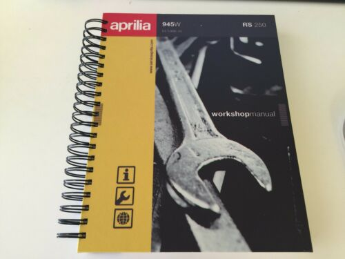 Aprilia RS250 Service Repair Workshop Manual + Parts Catalogue + User manual