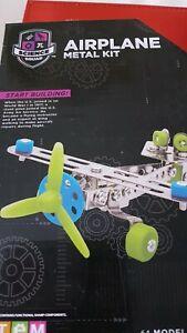 Courageux Science Squad Métal Airplane Kit-afficher Le Titre D'origine Prix Le Moins Cher De Notre Site