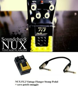 NUX-FL2-Vintage-Flanger-Stomp-effetto-a-Pedale-PER-CHITARRA-ELETTRICA-cavo