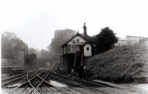 Rail Photo LMS NSR Kidsgrove Central station signal box Stoke on trent LNWR
