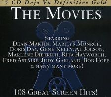 THE MOVIES-108 GREAT SCREEN HI -DEAN MARTIN, DORIS DAY, MARILYN MONROE-5 CD NEU