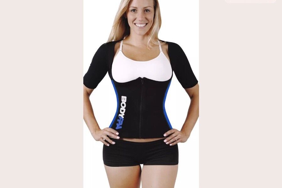Body SPA Light Neoprene Vest with Sleeves blueee Exercise Shaper  Weight Loss 3XL(q  in stock