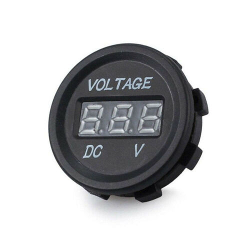 New DC 12V-24V Car Motorcycle LED Digital Display Volt Voltage Gauge Meter
