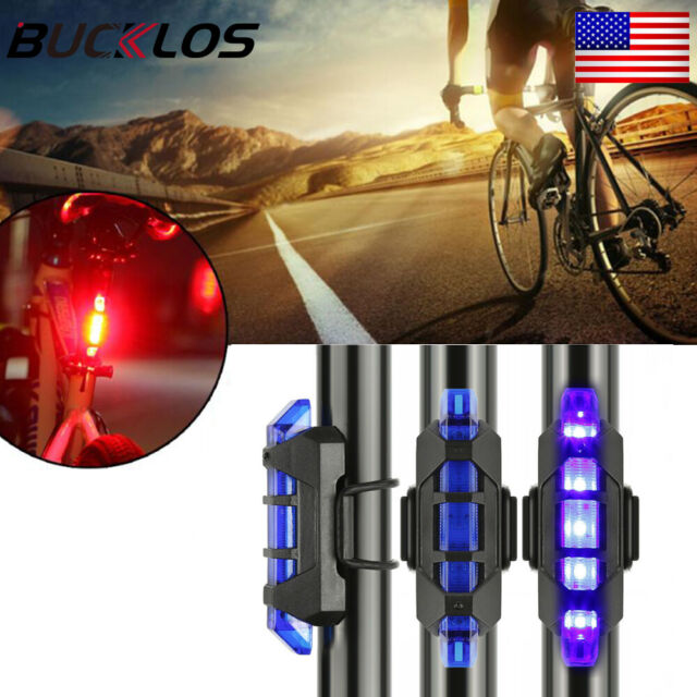 Rechargeable USB Cycle Rear Light LED Waterproof 4 Modes Bike Warning Taillight