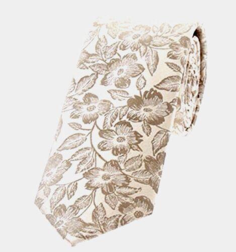 Duchamp Para hombres Corbata Seda puntada Floral Tono Oro
