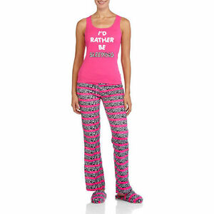 Women s Body Candy Loungewear 3 PC Set Tank Pants   Slippers PJ S ... 8f6f661b3