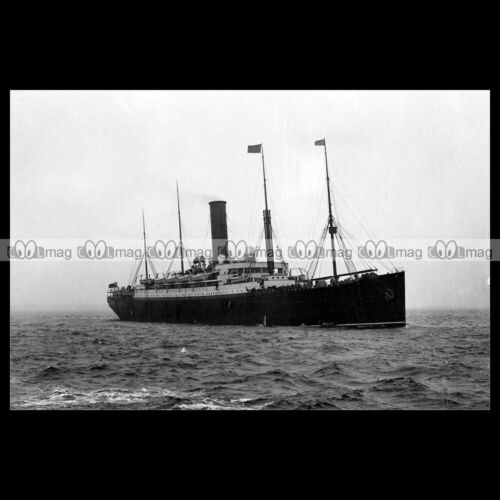 #php.03902 Photo SS IVERNIA CUNARD LINE 1901 PAQUEBOT OCEAN LINER