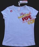Pepe Jeans Girls White Top(size Medium 10/12)