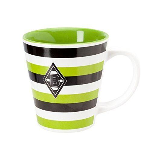 Fußball Borussia Mönchengladbach Tasse Kaffeebecher Streifen  VFL