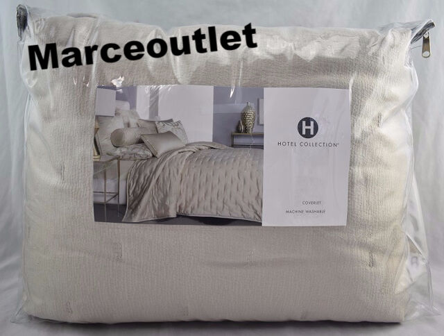 Hotel Collection Fresco KING Quilted Coverlet Soft Gold