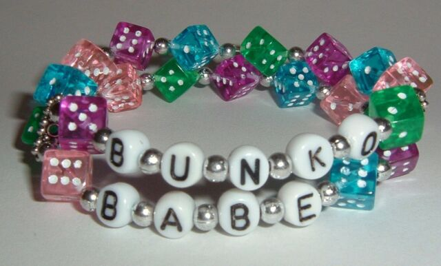 BUNKO Babe Theme Dice Bracelet - Fun Colorful - Great Gift for a Bunko Party