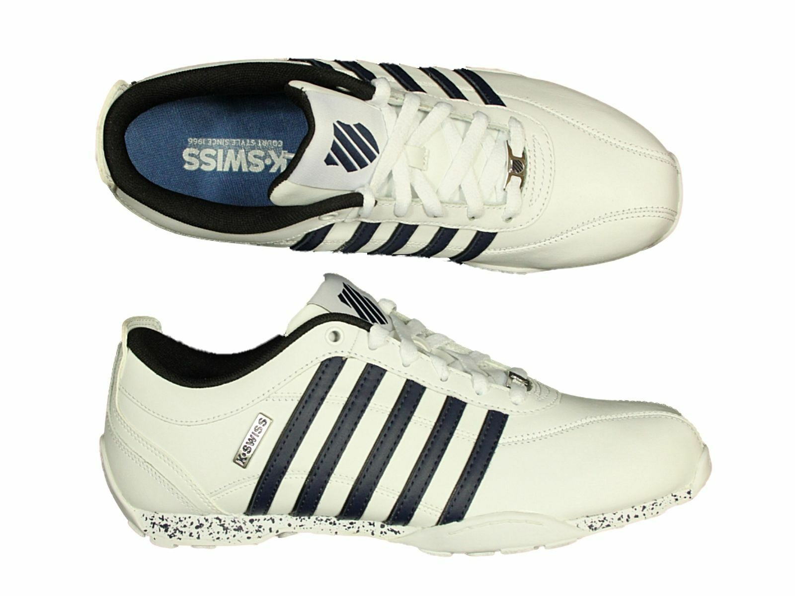 K SWISS UP BNWT TRAINERS ARVEE LACE UP SWISS IN Weiß BLACK GREY BROWN CLEARANCE PRICE f0f130