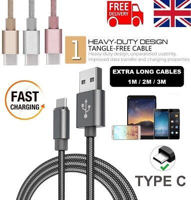 EXTRA lungo USB TIPO C 3.1 Dati Veloce Cavo Caricabatteria Piombo Per Huawei P9 P10 Honor | eBay